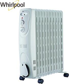 Whirlpool 惠而浦 WORM11W 葉片式電暖器 11片 (白)