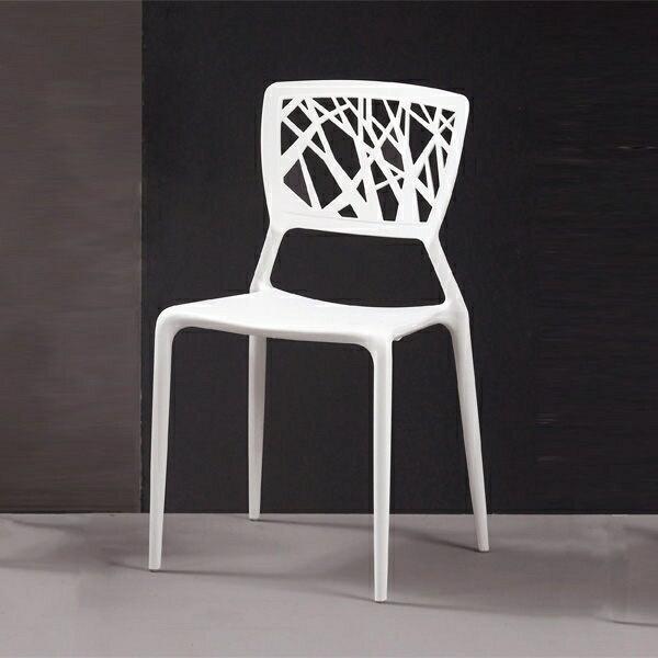 珍妮絲造型椅(白)