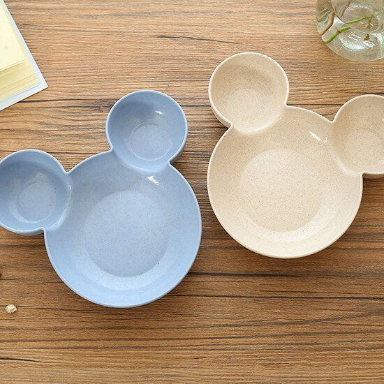 ♚MY COLOR♚✭環保小麥兒童餐盤 小麥纖維 分格 點心 卡通 早餐 盤子 廚房 餐具 菜盤 衛生 【P583】