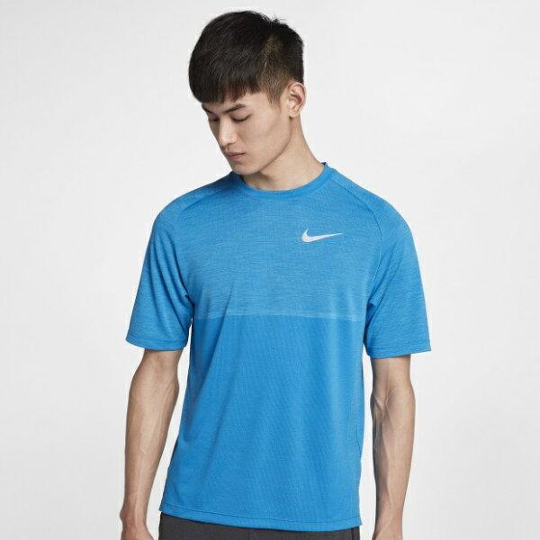 NIKEDRI-FITMEDALIST男裝短袖慢跑網布透氣舒適乾爽藍【運動世界】891427-465
