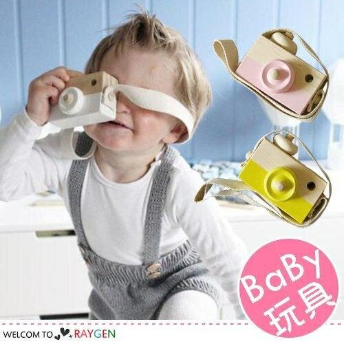 北歐風兒童 木質相機玩具擺件 攝影道具~2X082G611~
