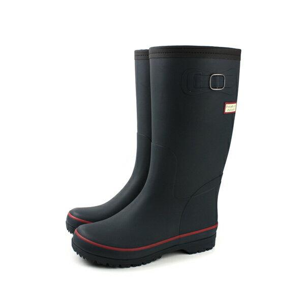 HUMAN PEACE:HiromichiNakano雨靴雨鞋雨天防水高筒女鞋霧面深藍色HIWL146R5no152