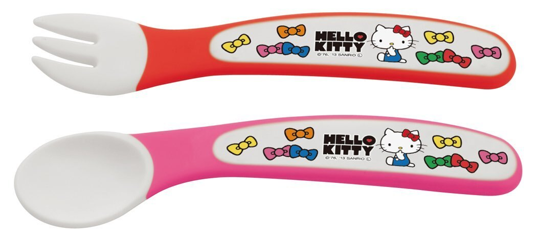 日本 Hello Kitty 二件餐具組 / 湯叉組