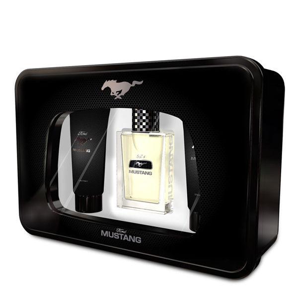 FORD MUSTANG 福特野馬 男性淡香水禮盒 (淡香水100ml+沐浴膠150ml+鬍後水150ml) 贈隨機針管《Belle倍莉小舖》