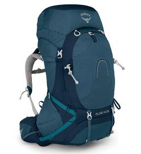 【Osprey美國】AURAAG65輕量登山背包自助旅行健行背包網架背包女款挑戰藍〈容量62L〉/AuraAG65