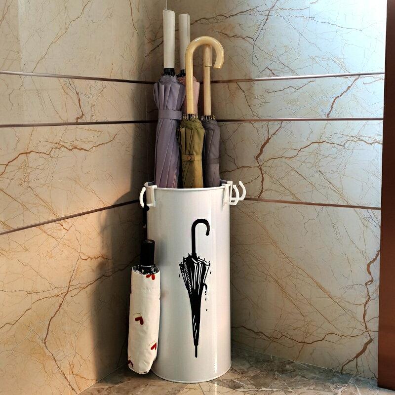 雨傘架家用 歐式現代時尚家居鐵藝辦公雨傘桶 雨傘收納桶