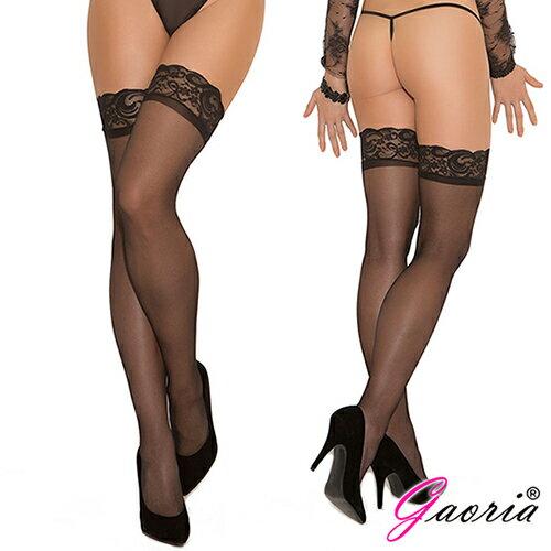 黑色性感 蕾絲大腿襪【Gaoria】誘惑蕾絲花邊 性感過膝 絲襪 長筒襪 高筒大腿襪 黑T-112 女用絲襪性感大腿襪