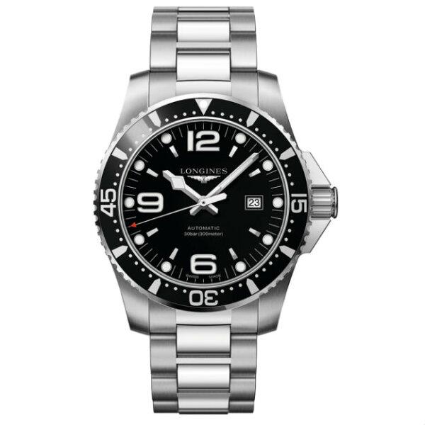 LONGINES浪琴錶L38414566HydroConquest深海征服者浪鬼機械腕錶黑面44mm
