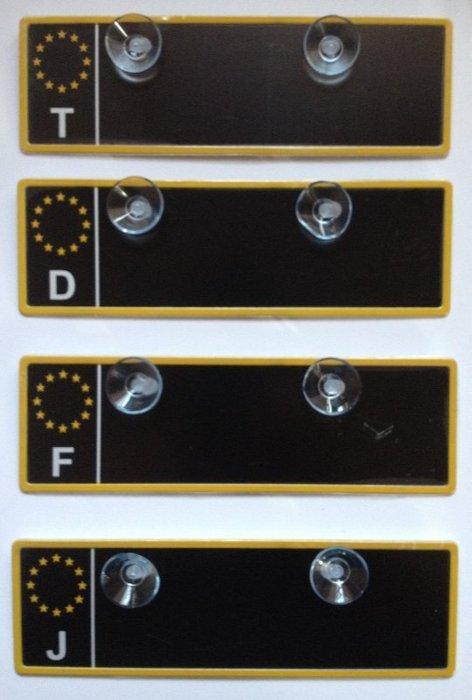 權世界@汽車用品 COTRAX歐洲車牌造型停車用電話留言板(T/D/F/J) 暫停一下 CX-120106-4種選擇