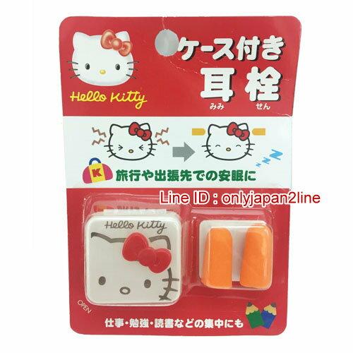 【真愛日本】16121200003耳塞附收納盒-KT紅結 三麗鷗 Hello Kitty 凱蒂貓 日本限定 精品百貨 日本帶回