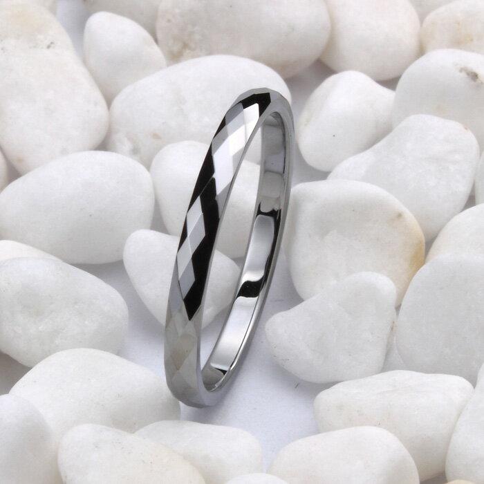 極細鎢金戒指 韓版指環尾戒 潮人女生飾品 閃亮不褪色戒子