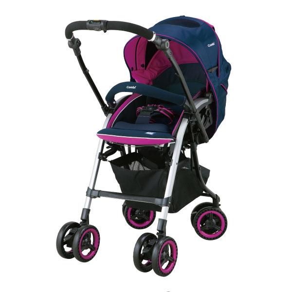 小奶娃婦幼用品:Combi康貝-NemurieUF800雙向嬰兒手推車-微晨紅