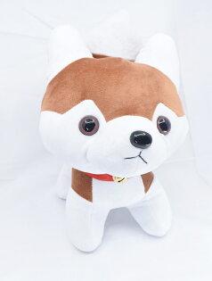 X射線【C343032】10.5吋哈士奇,絨毛填充玩偶玩具公仔抱枕靠枕娃娃