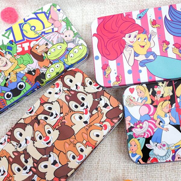 PGS7日本迪士尼系列商品-日貨經典復古迪士尼鐵鉛筆盒小美人魚玩具總動員【SHJ71329】