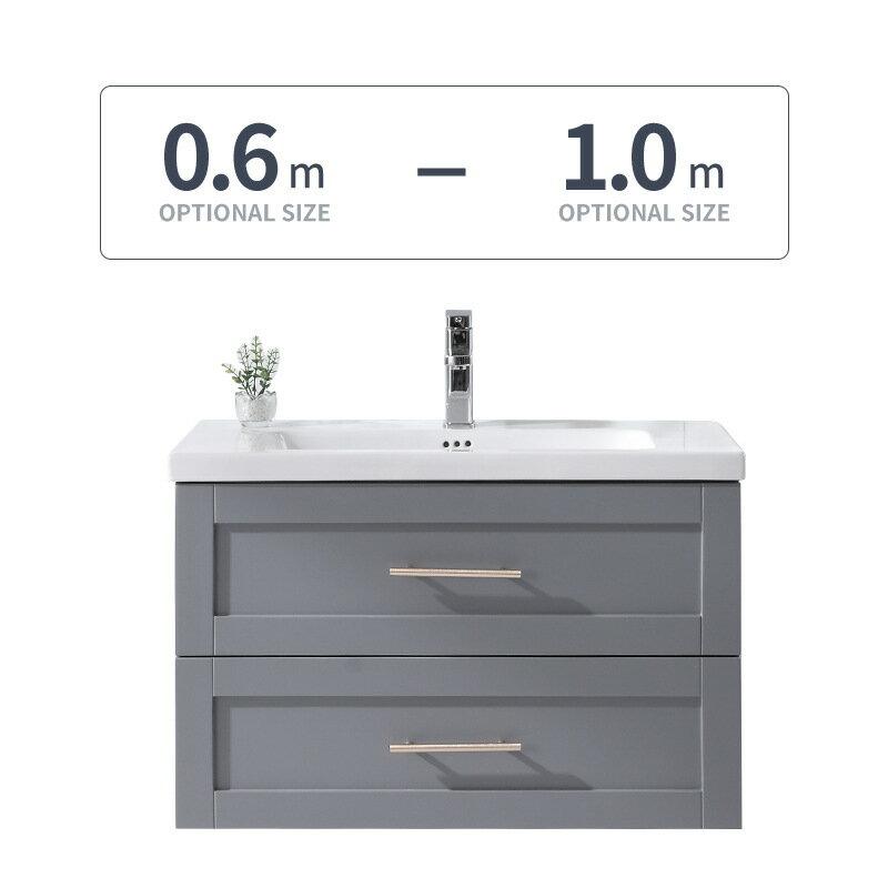 實木北歐浴室柜組合簡約現代洗手臉面盆柜衛生間落地洗漱臺輕奢風【艾莎嚴選】