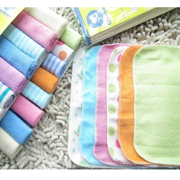 BO雜貨【SV6464】8條一組小毛巾嬰兒喂奶巾口水巾洗臉洗澡兒童手帕嬰幼兒多用途小方巾