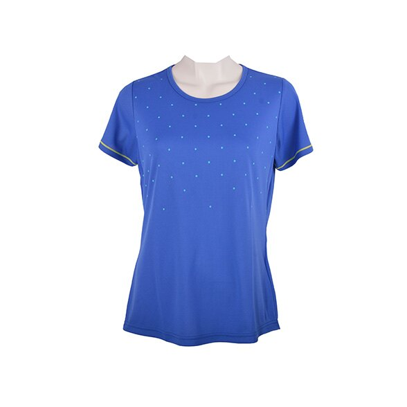 32JA621027(藍)日本同步 點點設計女短袖T恤 【美津濃MIZUNO】
