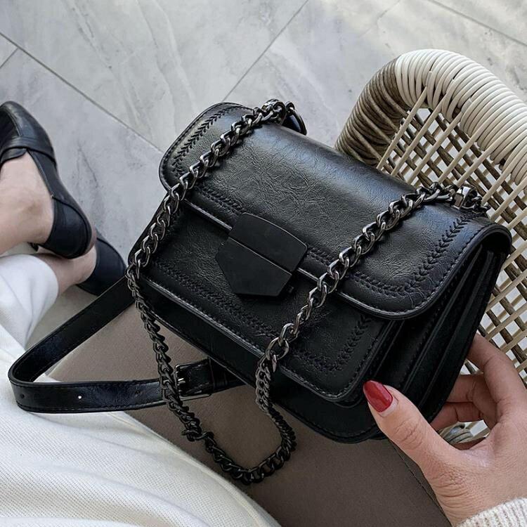 斜背包 網紅小包包女包2020新款潮2020小眾chic單肩包時尚鏈條斜挎小方包 清涼一夏钜惠