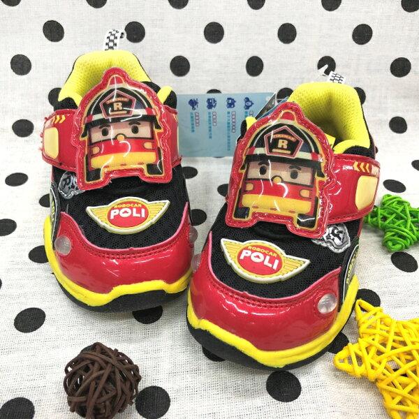 【巷子屋】救援小隊-童款羅伊車子造型電燈運動休閒鞋[61222]紅MIT台灣製造超值價$200