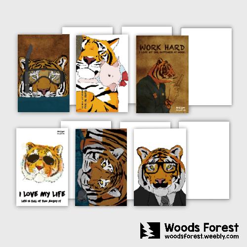 【1元搶購*超低促銷】Woods Forest 木雕森林 - A5大筆記本【工作虎】