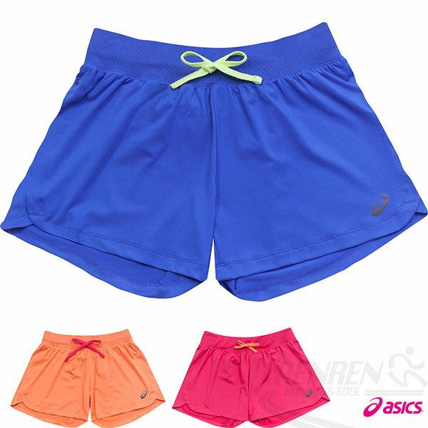 ASICS亞瑟士女慢跑針織短褲(靛藍)
