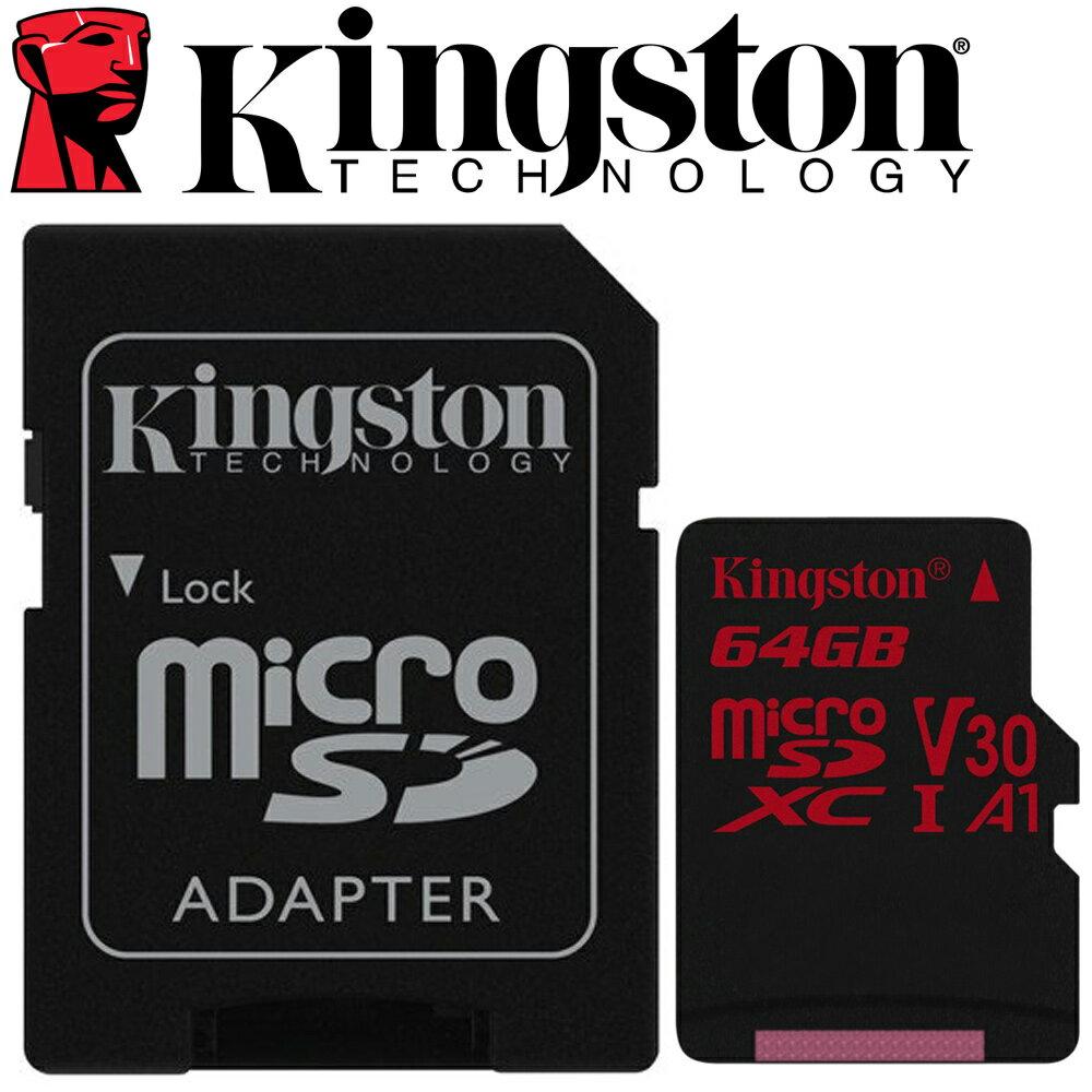 Kingston 金士頓 64GB microSDXC TF UHS-I U3 A1 V30 記憶卡 SDCR / 64GB 1