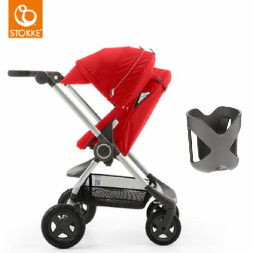 【獨家贈杯架】Stokke Scoot 2代嬰兒手推車(紅色)