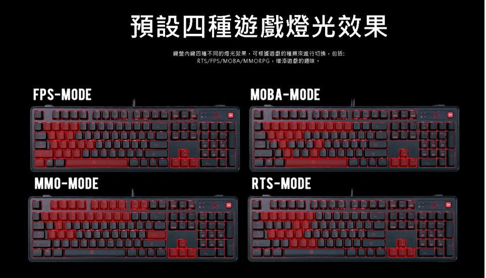鍵盤 Tt eSPORTS 拓荒者MEKA PRO青軸機械式電競鍵盤 青軸   電競鍵盤 機械式鍵盤 曜越 3