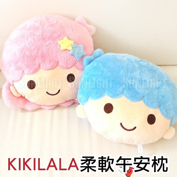日光城。雙子星午安枕,KIKILALA柔軟抱枕三麗鷗 Sanrio正版頭型抱枕枕頭午睡枕靠墊靠枕