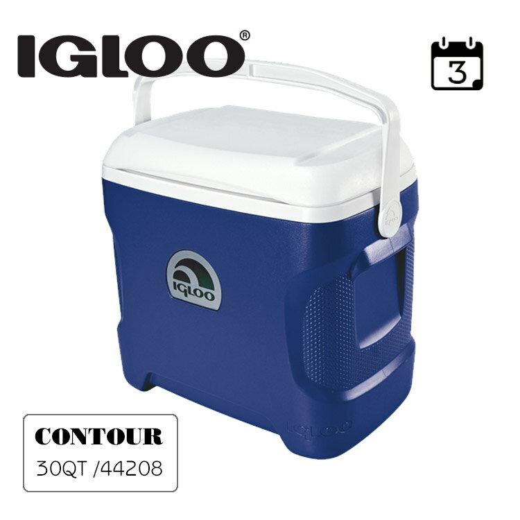 IgLoo CONTOUR系列30QT冰桶44642   藍色 城市綠洲專賣 (保鮮、保冷、美國製造、露營、釣魚) 0
