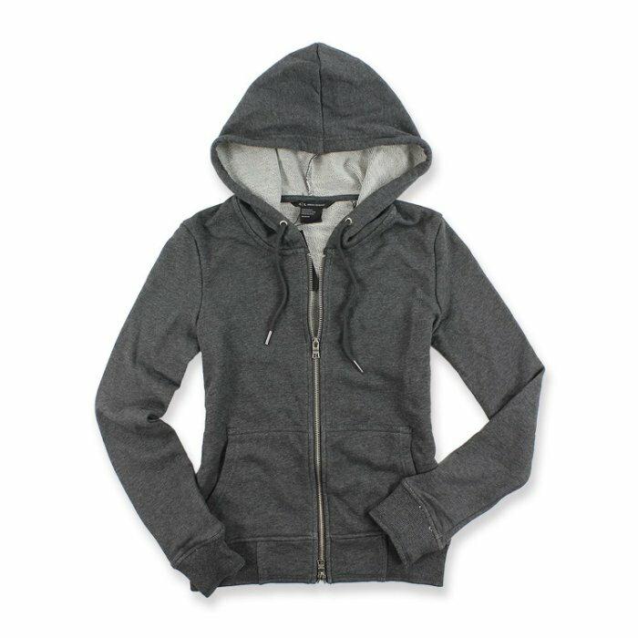 美國百分百【全新真品】Armani Exchange 棉質 連帽 外套 夾克 AX 水鑽 鐵灰色 女XS S M H471