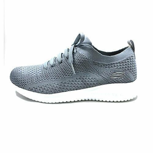 SKECHERS女健走鞋ULTRAFLEX(灰)假綁帶套入式休閒鞋12841SLT【胖媛的店】