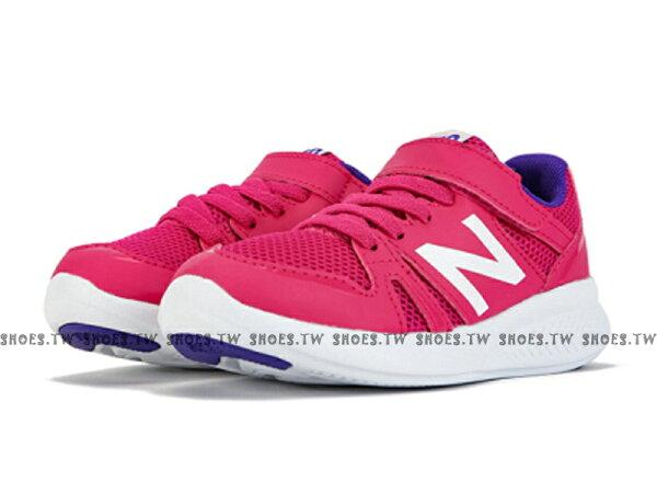 Shoestw【KV570PKY】NEWBALANCENB570童鞋運動鞋慢跑鞋中童桃紫白N