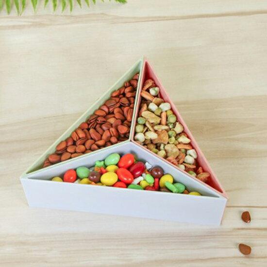 ♚MYCOLOR♚創意立體式糖果盒(三角形)可拼接帶蓋零食乾果盤三角桌面收納盒【N446】