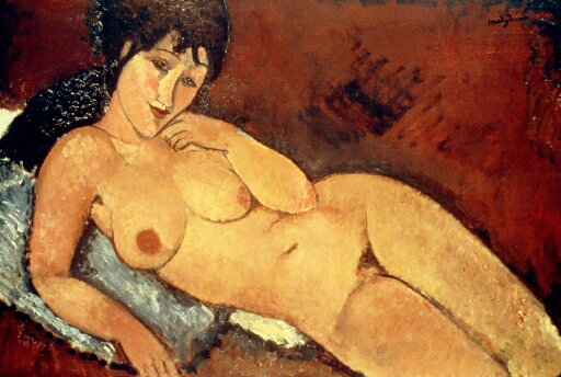 Modigliani Nude 1917 Nnude On A Blue Cushion Canvas By Amedeo Modigliani 1917 Poster Print by (24 x 36) ad926376a98352168112c9fa0df75589