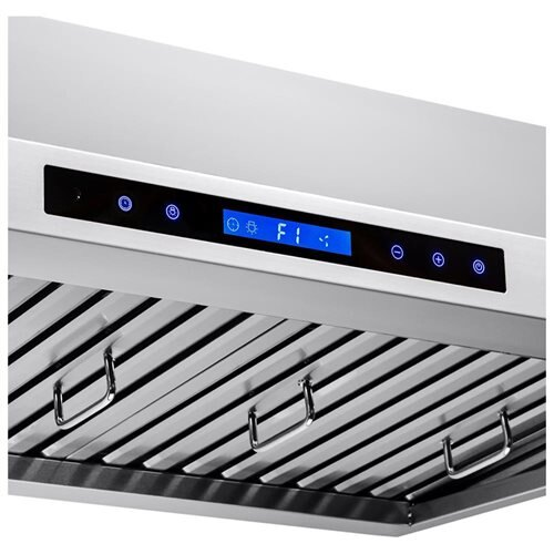 "AKDY 54"" Stainless Steel Under Cabinet Mount Range Hood Touch Screen Display Light Baffle Filter 2"