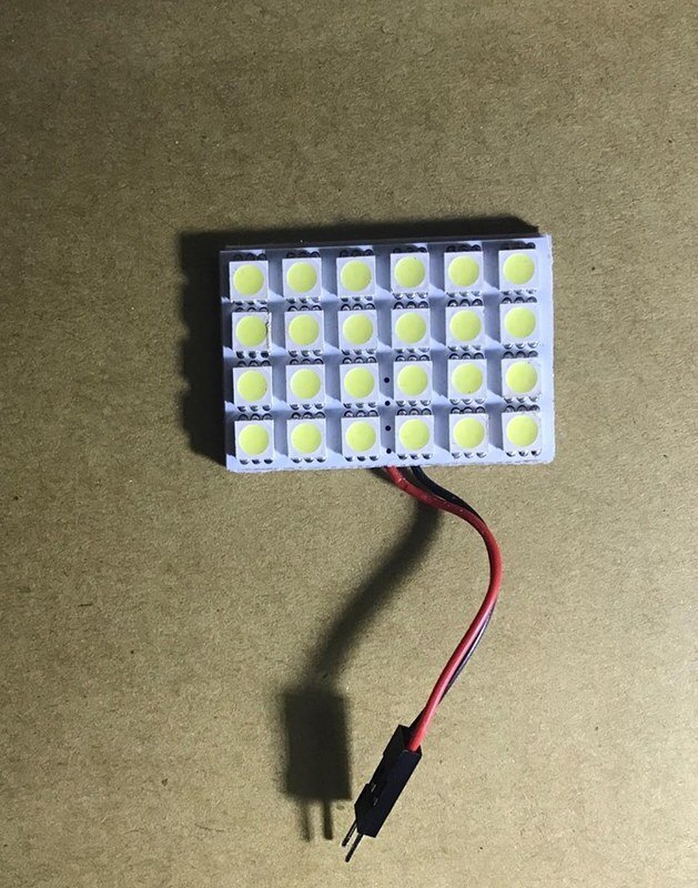 24晶片 SMD-5050高亮晶片 汽車室內燈板 車頂燈 置物箱燈 車箱燈 LED燈板