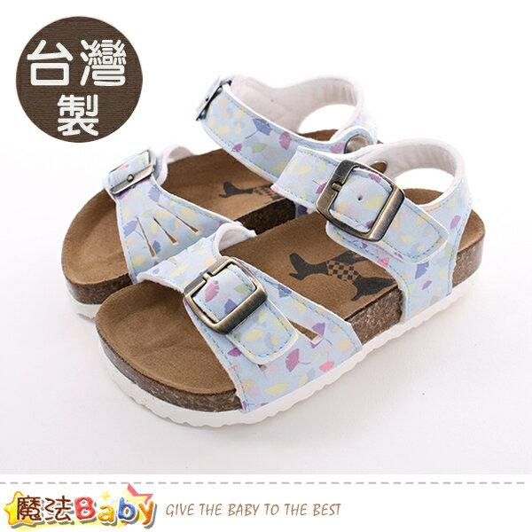 童鞋台灣製真皮中底女童涼鞋魔法Baby~sk0425