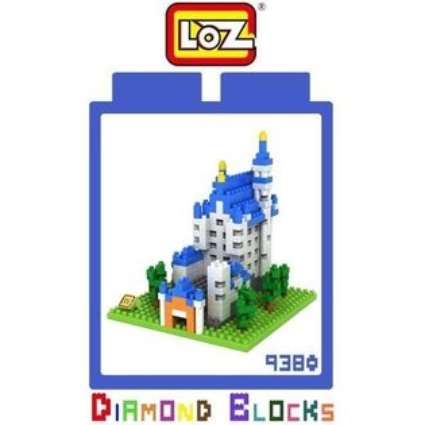 【微笑商城】LOZ迷你鑽石小積木德國新天鵝堡樂高式益智玩具組合玩具原廠正版世界建築系列