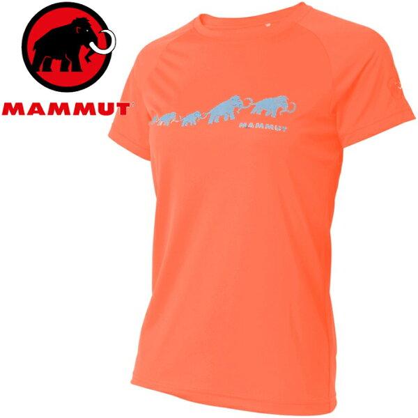 Mammut長毛象登山排汗衣領短袖運動T恤登山健行路跑野跑AegilityT-Shirt亞版女款1017-100713218小檗紅
