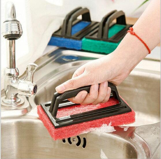 【省錢博士】帶手柄強力去汙海綿底清潔刷子 / 浴缸刷 / 瓷磚擦