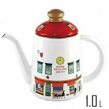 【日本富士FUJIHORO】瑪利小屋細口琺瑯壺-1.0L / 紅 電磁爐對應