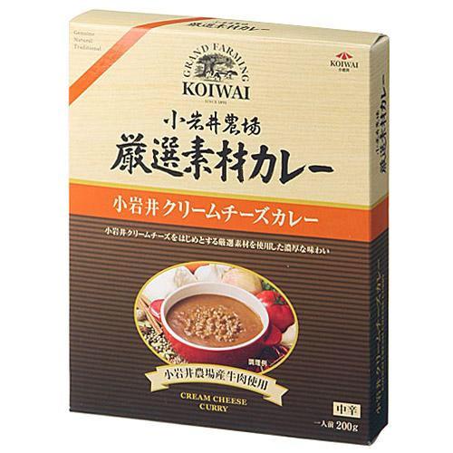 小岩井嚴選素材牛肉咖哩調理包奶油起司中辛200g日本帶回