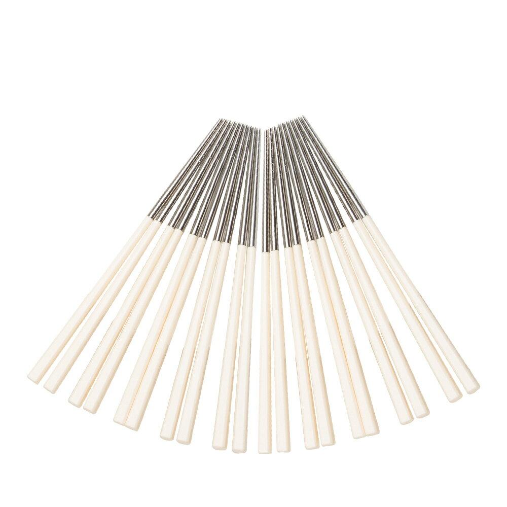 鍋寶 巧廚304不鏽鋼筷 象牙白 20雙 EO-RG015WZ4