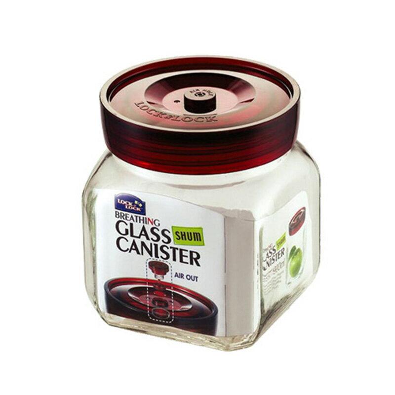 樂扣樂扣單向排氣閥玻璃密封罐900ML泡菜咖啡豆保鮮罐-大廚師百貨 0
