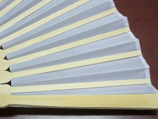 8英吋白色絹布 空白扇子 彩繪扇子 20.5cm / 一支入 { 定30 }  手繪扇(日本扇子.小摺竹片單面絹布)~5155 3