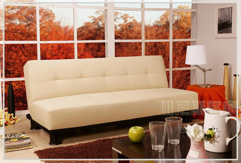 【米修‧米修】乳膠皮革超厚坐墊-多人座大尺寸沙發床 ★班尼斯國際家具名床 0