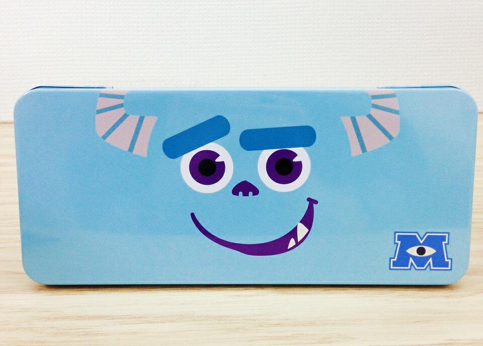 【真愛日本】15102600018 鐵筆盒-毛怪大臉 怪獸電力公司 皮克斯 毛怪大眼 文具用品 鉛筆盒 鐵盒