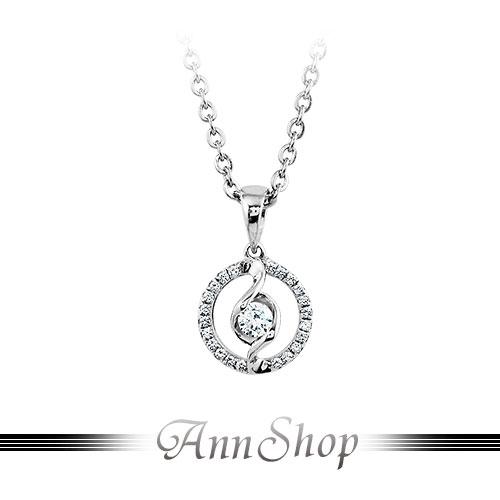 AnnShop【925純銀‧真愛限定.鋯石/鑽石純銀項鍊】可客製化鑽石珠寶銀飾禮品 ZP078