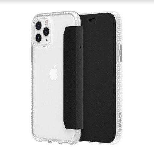 Griffin Survivor Clear Wallet iPhone 11 Pro  Pro Max 透明背套防摔側翻皮套 [當日配]